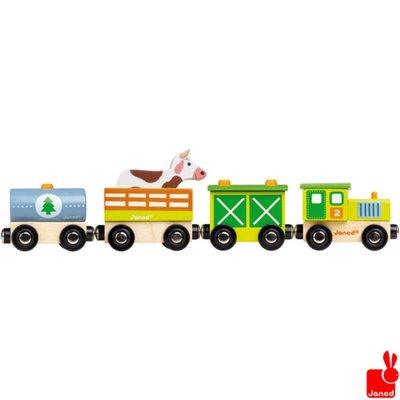 Janod trein-boerderij-magnetisch