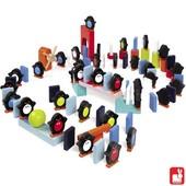 Janod Kubix 100 gekleurde dominostenen