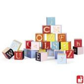 Janod Kubix 26 gekleurde letterblokken maxi