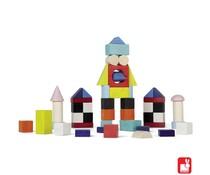 Janod Kubix 50 gekleurde blokken