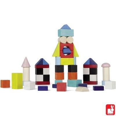 Janod Houten blokken waar je allerlei leuke dingen mee kan bouwen