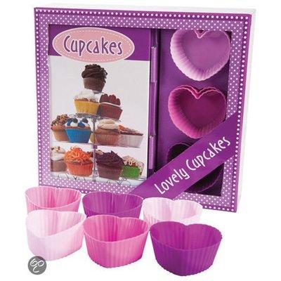 Cupcakes Boek-Box met heerlijke recepten & 6 cupcakevormen