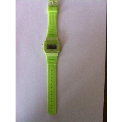 Digitaal siliconen casiostijl horloge wit