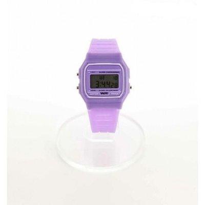 Digitaal siliconen casiostijl horloge paars