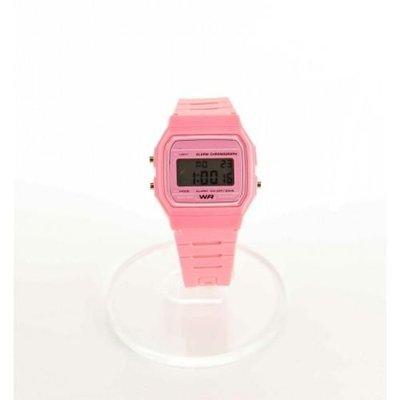 Digitaal siliconen casiostijl horloge roze