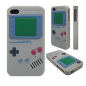 Iphone 4 (S) gameboy siliconen hoes wit