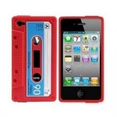 Iphone 4 (S) cassetteband hoes rood