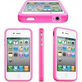 Iphone 4 (S) bumper roze