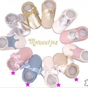 MENU Baby shoes Lederen Doopschoentjes zelf samenstellen