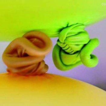Peas Wenskaart Ballonnen 'Gefeliciteerd met de Geboorte'