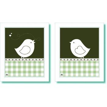 Inepien 2-luik Vogel wit (op voorraad)