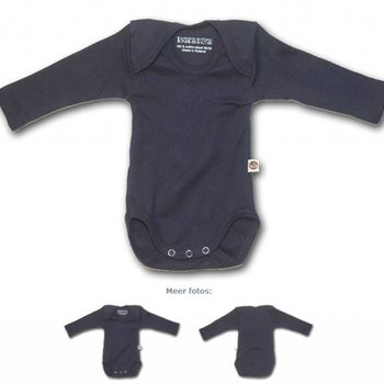 Wooden Buttons Romper lange mouw Donkerblauw