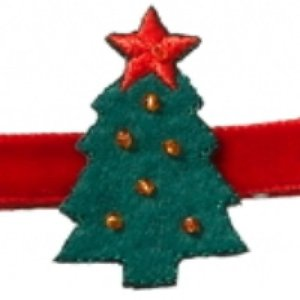 No slippy hair clippy Kerst - Kerstboom haarclipje