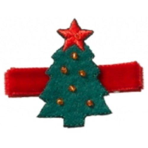 Kerst - Kerstboom haarclipje