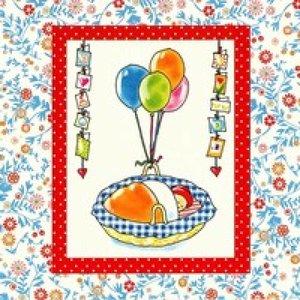 Pauline Oud Wenskaart - Baby met ballonnen 063