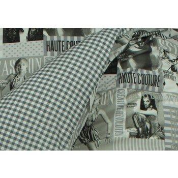Bink Bedding Dekbedovertrek Fashion grijs 1-persoons