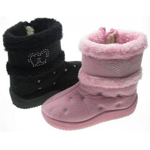 Soft Touch Meisjes boots - Diamant Kroon Roze 15-18 mnd