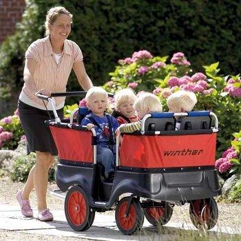 Winther Kiddy-Bus om 4 kinderen te vervoeren