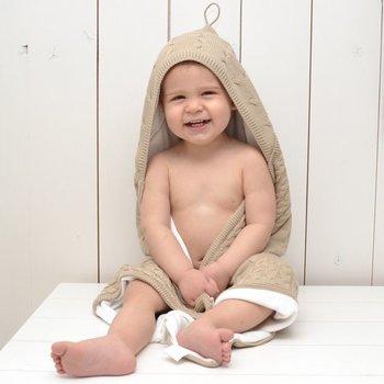 Baby's Only Kabel Chenille Wiegdeken - Beige