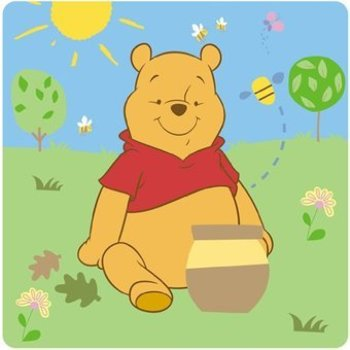 Disney baby Auto zonnescherm . Pooh and friends Y7304