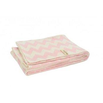 Jollein LN Deken LN 100x150cm chevron pink/off-white