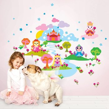 WallCandyArts Sticker set French Bull Princess