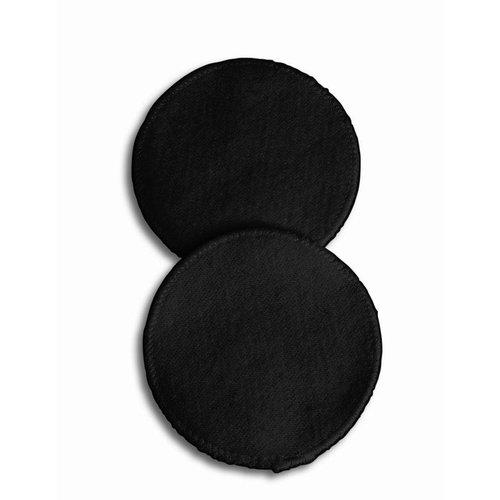 Carriwell Zwarte Wasbare zoogcompressen 100% katoen