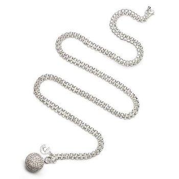 Proud MaMa Zilveren babybel Kristal - zilver jasseron