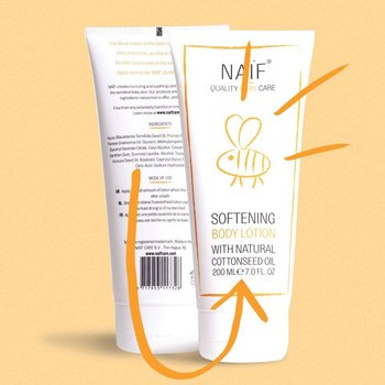 NAÏF Softening Body Lotion - baby lotion