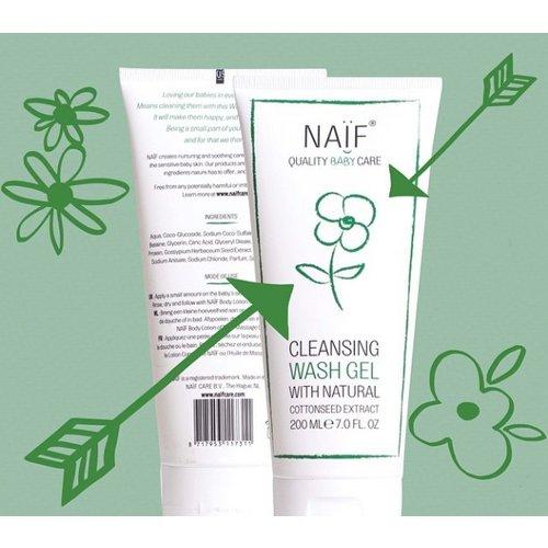 NAÏF Cleansing Wash Gel - zeepvrije wasgel