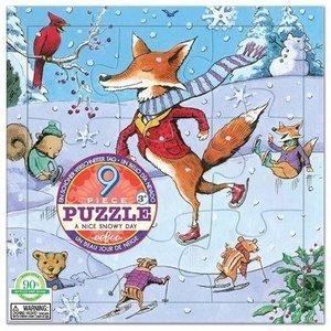 EeBoo Puzzel - Een mooie dag met sneeuw - winter