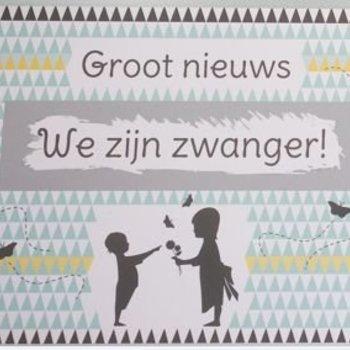 Minimou Kraskaart - We zijn Zwanger! Nordic silhouette