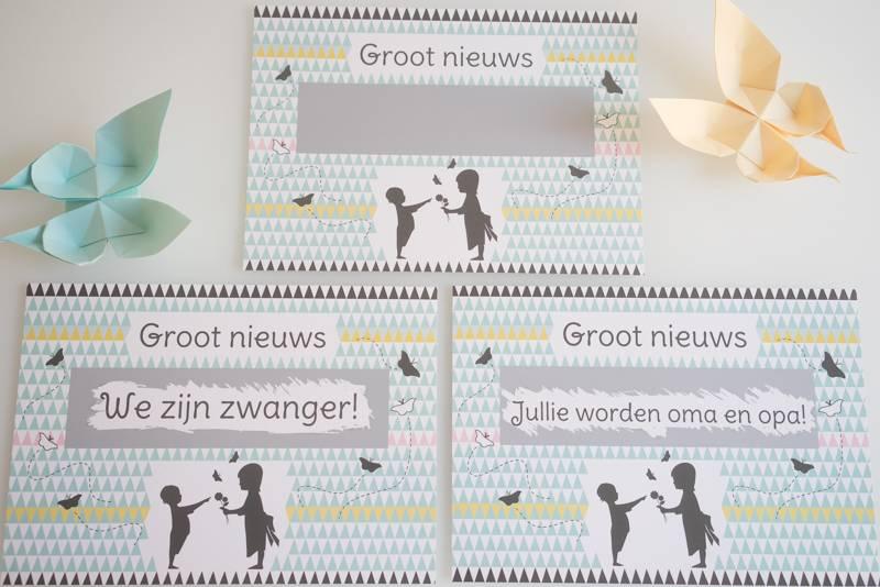 Voorkeur Minimou Kraskaart - We zijn Zwanger! Nordic silhouette - Online  #YS52
