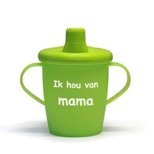 Kiddyboo Love Cups - Ik hou van MAMA Lime groen