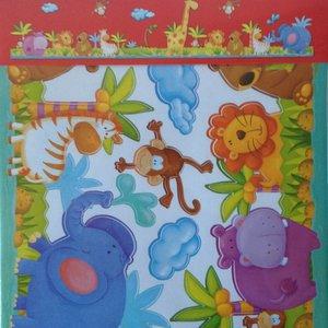 AMbDB Muurstickerband Dierentuin voor kinderkamer