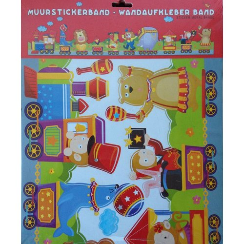 AMbDB Muurstickerband Circus voor kinderkamer