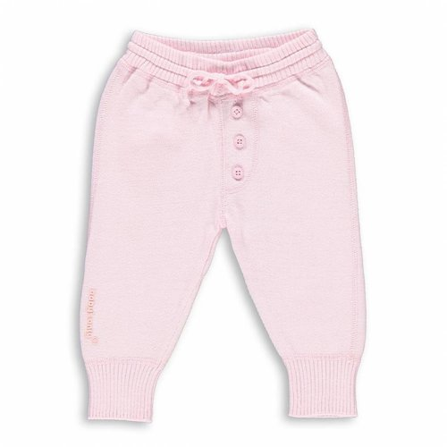 Gebreid baby broekje 100% Biologisch katoen Roze