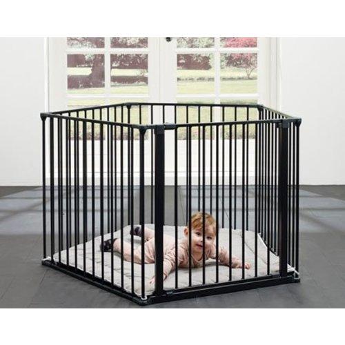 BabyDan Flexpark Park-a-kid babybox Zwart / haardhek - box