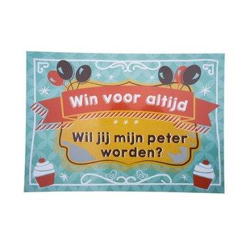 Minimou Kraskaart Peter Balloons & Cupcakes - Wil je mijn Peter worden?