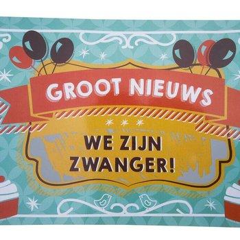 Minimou Kraskaart - We zijn Zwanger! Balloons & cupcakes