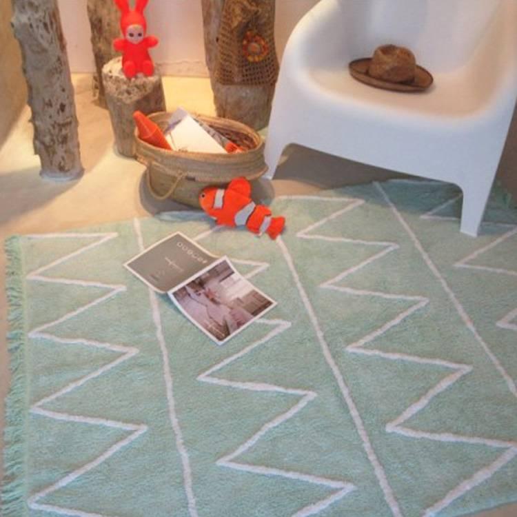 lorena canals wasbaar tapijt hippy mint groen - online babywinkel, Deco ideeën