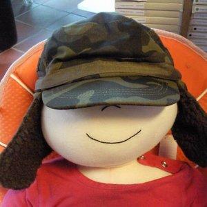 Pesci Kids Kinderpet legerlook warm gewatteerd