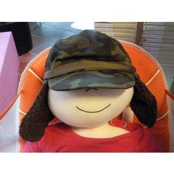 Pesci Kids Kinderpet lederlook warm gewatteerd