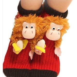Anti-slip slofsok met aap - Homesock monkey