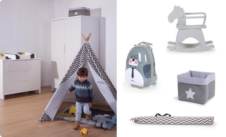 Childwood tipitent voor de kinderkamer tipi zigzag online babywinkel de babykraam - Versieren kinderkamer ...