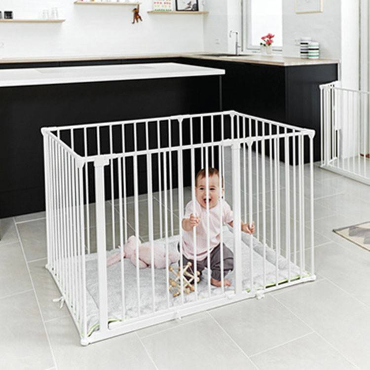 babydan square park a kid babybox park metaal wit online babywinkel de babykraam. Black Bedroom Furniture Sets. Home Design Ideas