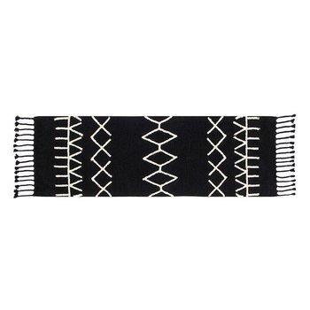 Lorena Canals Wasbaar tapijt Bereber Black - 80x230cm