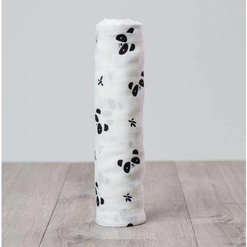Lulujo Bamboe swaddle Panda 120 x 120 cm