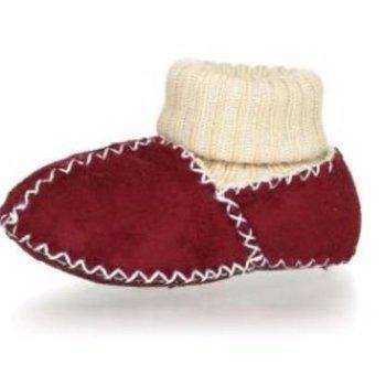 Playshoes Winterslofjes van lamsleder Rood
