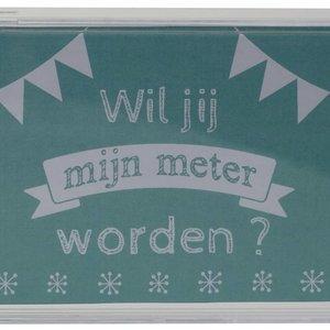 Minimou Transparante spaarpot Wil jij mijn Meter worden ?